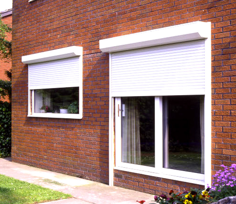 Therma roll 42 insulated shutter electric opening cheap prices for Window shutters interior prices