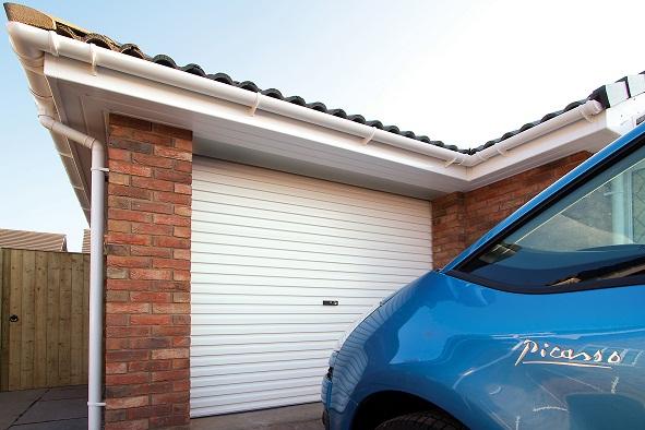 Gliderol single skin roller garage door manual opening for Coventry garage doors