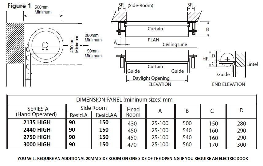 Gliderol electric roller garage door uk made custom sizes for Garage door opening dimensions