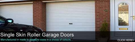 Single Skin Roller Garage Doors - Manual & Electric Operation