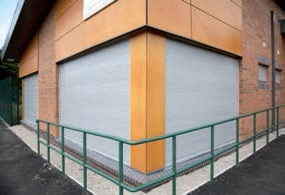 Security Shutter Securing Business Premises