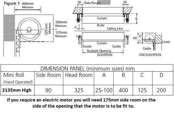 Gliderol Single Skin Roller Door Technical Specification