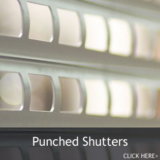 Bar, Serving Hatch & Kiosk Security Shutters - Punched Lath